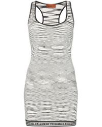 Missoni - Racerback Stretch-fit Patterned Mini-dress - Lyst