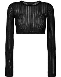 Diesel Black Gold - Cropped Knitted Top - Lyst