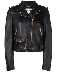 Moschino - Couture Embroidery Leather Jacket - Lyst