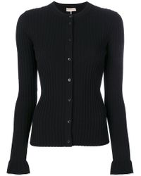Emilio Pucci   Contrast Detail Ribbed Cardigan   Lyst