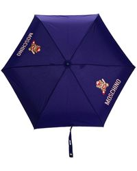 Moschino テディベア プリント傘 - ブルー