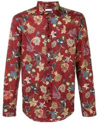 Etro - Flower Print Shirt - Lyst