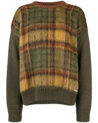 DSquared² - Checked Knit Jumper - Lyst