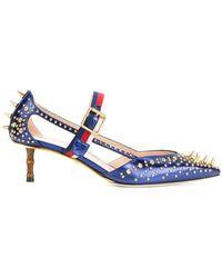 Gucci - Sylvie Web Strap Court Shoes - Lyst
