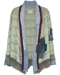 Greg Lauren - 'padded Kimono' Patchwork And Quilted Jacket - Lyst