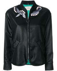 Marco De Vincenzo - Embroidered Foulard Bomber Jacket - Lyst