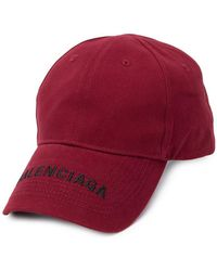 4be13e031ac Balenciaga Logo Embroidered Cotton Cap in Black for Men - Lyst