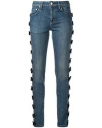 Tu Es Mon Tresor - Side Ribbon Detail Jeans - Lyst