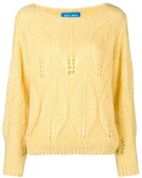 M.i.h Jeans - Lacey Leaf Knit Jumper - Lyst