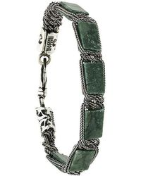 Emanuele Bicocchi - Rectangle Stone Bracelet - Lyst