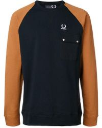 Fred Perry - Colour Block Sweat - Lyst