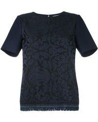 Erika Cavallini Semi Couture - Fringed Hem T-shirt - Lyst