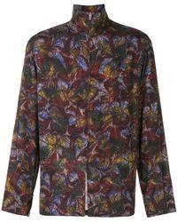 Lemaire - Zip-up Floral Print Jacket - Lyst