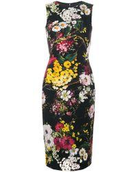 Dolce & Gabbana - Abito aderente a fiori - Lyst