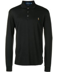 38cc748f0 Lyst - Polo Ralph Lauren Colour Block Bear Polo Shirt in Black for Men