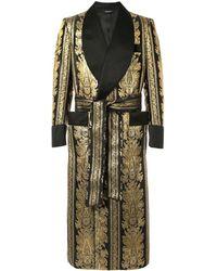 Dolce & Gabbana Badjas Met Jacquard - Metallic