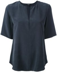 Theory - Open Neck T-shirt - Lyst