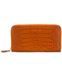 L'Autre Chose - Crocodile Embossed Wallet - Lyst
