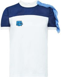Prada ラッフル Tシャツ - マルチカラー