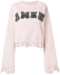 Amen | Studded Logo Sweatshirt With Distressed Edges | Lyst