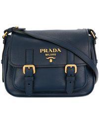 Prada - Logo Plaque Cross-body Bag - Lyst