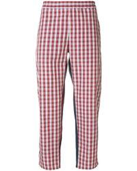 Gosha Rubchinskiy - Checked Cropped Trousers - Lyst