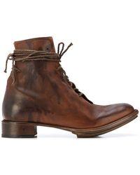 Cherevichkiotvichki - Elongated Lace Ankle Boots - Lyst