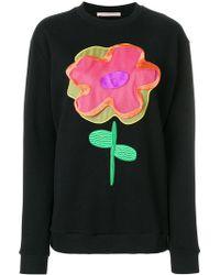 Christopher Kane - Cartoon Floral Sweatshirt - Lyst