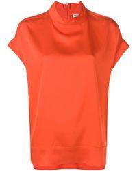 By Malene Birger - Boxy High Neck T-shirt - Lyst