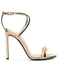 Tom Ford Knot-detail Sandals - Metallic