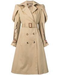 Alexander McQueen - Puffy Sleeves Trench Coat - Lyst