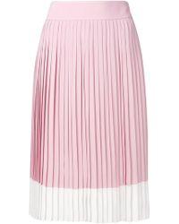 Jil Sander Navy | Pleated Midi Skirt | Lyst