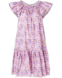 Blumarine - Gathered Off The Shoulder Dress - Lyst