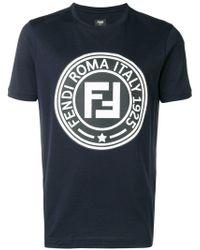 Fendi - T-Shirt mit Logo-Print - Lyst