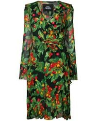 Marc Jacobs - Redux Grunge Collection 1993/2018 By Cherries Print Wrap Dress - Lyst