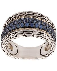 John Hardy - Classic Chain Sapphire Ring - Lyst