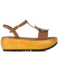 Marni - Resin Plaque Platform Sandals - Lyst