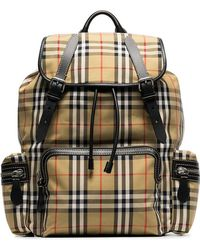 Burberry - Brown Classic Check Cotton Canvas Backpack - Lyst