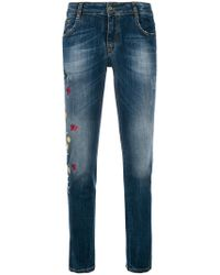 Blugirl Blumarine - Floral Embellished Jeans - Lyst