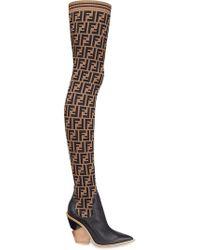 Fendi Stocking Thigh-high Boots