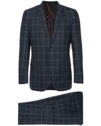 Loveless - Grid Print Two Piece Suit - Lyst