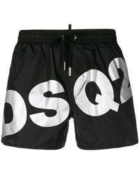 DSquared² - Branded Swim Shorts - Lyst