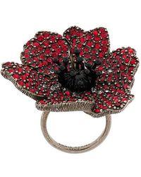 Sonia Rykiel - Large Embellished Poppy Ring - Lyst