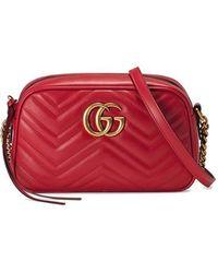 045f746e711 Gucci - GG Marmont Small Matelassé Shoulder Bag - Lyst