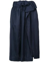 Stella McCartney - Asymmetric Pleated Skirt - Lyst