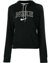 Nike - Black Logo Hoodie - Lyst