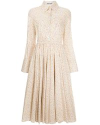 Mikio Sakabe - Sequinned Floral Shirt Dress - Lyst