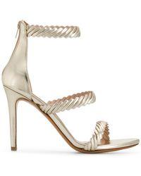 Albano - Textured Strap Sandals - Lyst