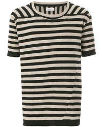Laneus - Striped T-shirt - Lyst