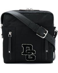 Dolce & Gabbana - Bolso messenger mediano con parche del logo - Lyst